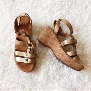 Kork-Ease Gold Wedge Size 6